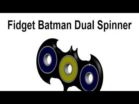How to Make Fidget Batman Dual Spinner