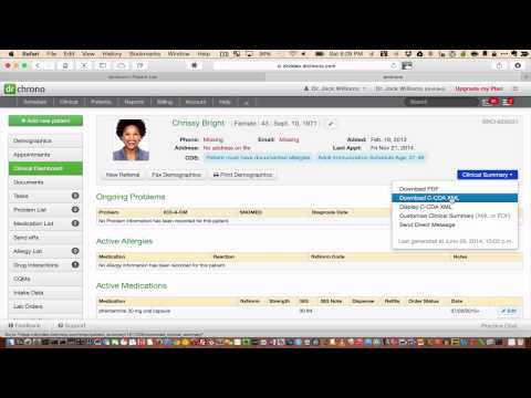 Tutorial: Exporting/Importing Data from an EHR Software Using CCDA // drchrono EHR