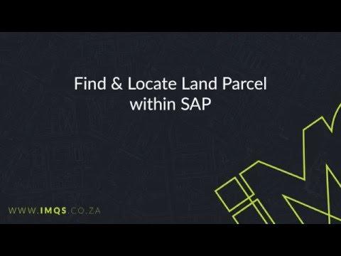 IMQS SAP Widget: Find & Locate Land Parcel