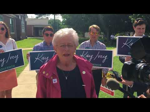 Gov. Kay Ivey on voting today