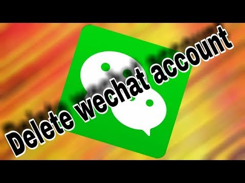 How to permanently delete wechat account