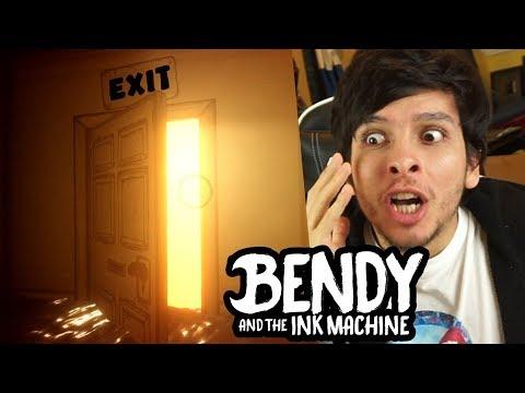 HE ABIERTO LA PUERTA DEL FINAL !! SALGO DEL TALLER - Bendy And The Ink Machine