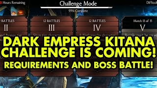 Dark Empress Kitana Challenge IS NEXT. Requirements and BOSS BATTLE. MKX Mobile.