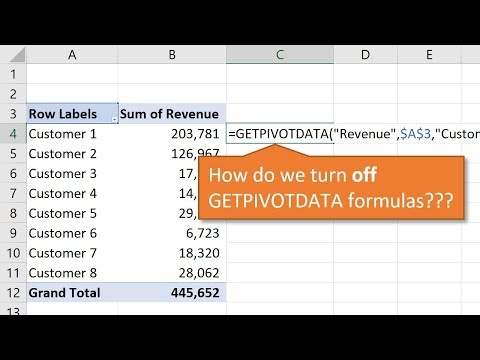 How to Turn Off GetPivotData for Excel Pivot Tables
