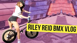 Riley Reid learns to ride BMX at the ONSOMESHIT store
