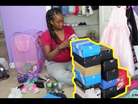 ORGANIZING MY TODDLERS HUGE SHOE COLLECTION + TODDLER ROOM CLEANING ROUTINE