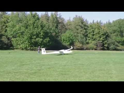 Gliders Landing and Taking Off at Farrenberg Airfield