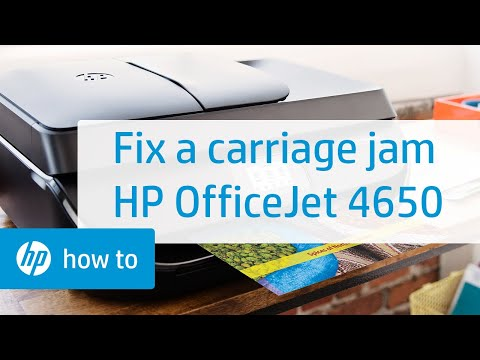 Fixing a Carriage Jam on the HP OfficeJet 4650 Printer