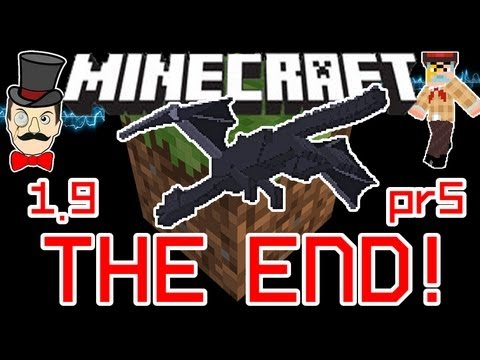 Minecraft 1.9 THE END Defeat the Ender Dragon to Win the Game ! Achievement + New End !