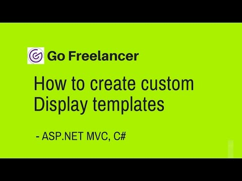 how to create custom Display templates in ASP NET MVC