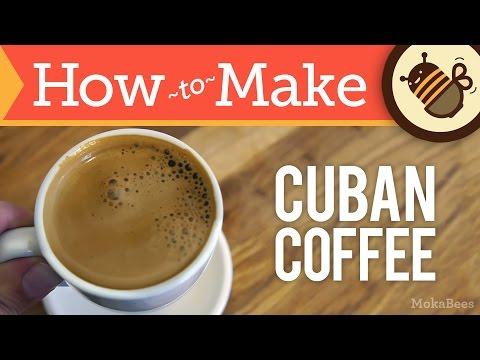 How to Make Cuban Coffee - Cafe Cubano Recipe (Cuban Café 'Espresso' with Faux Crema / Espuma)