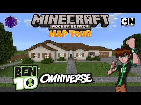 Minecraft PE Map: Ben's House (Ben 10 Omniverse)
