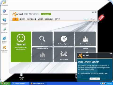avast installation and password protect