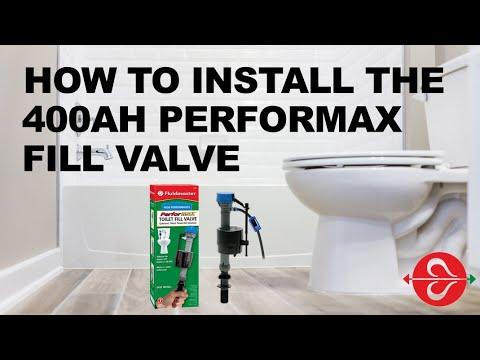 Toilet Not Filling Up : Install Fluidmaster PerforMAX High Performance Fill Valve
