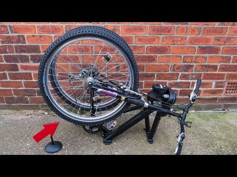 Homemade folding mountain bike conversion