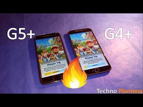 Moto G5 Plus vs G4 Plus Game Speedtest Comparison