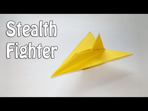 Origami Stealth Fighter Instructions - How To Make a Stealth Fighter Paper Airplane