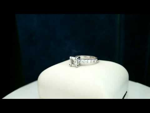 Diamond engagement ring 14k white gold with appraisal & certificate