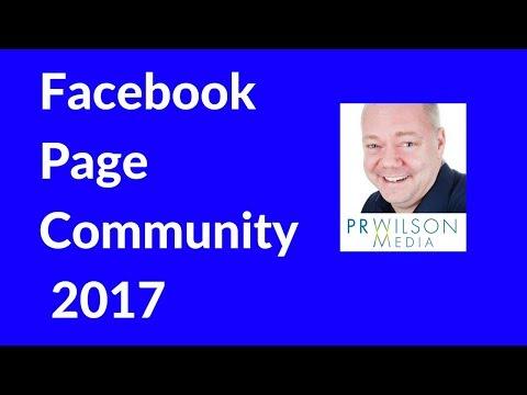 Facebook Page community 2017