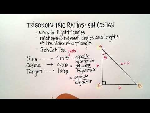 Triangles: The Trigonometric Ratios (Sin, Cos, Tan)