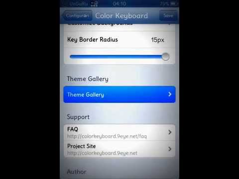 How to change keyboard on iPhone 3GS,4,4s,5