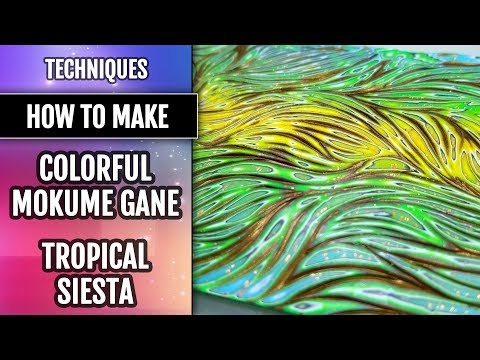"TUTORIAL. Colorful Mokume Gane ""Tropical Siesta"" by using my Unique Textures!"