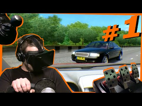 I DRIVE A MANUAL CAR FOR THE FIRST TIME! Oculus Rift and City Car Driving