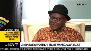 Tendai Biti on Mnangagwa's presidential candidates talks