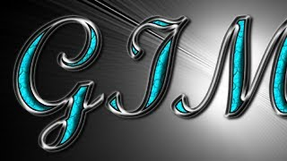 Download GIMP Text Effects - Silver with Turquoise Gemstones