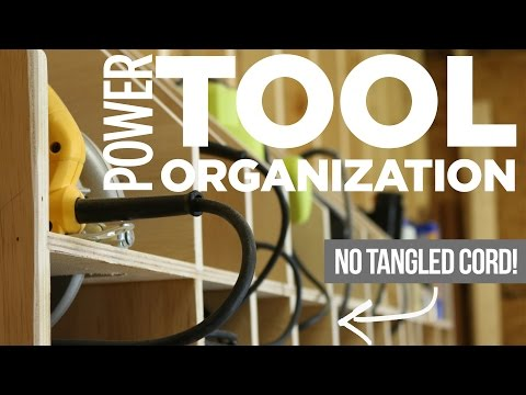Mike Makes Power Tool Storage w/ Cord Organization