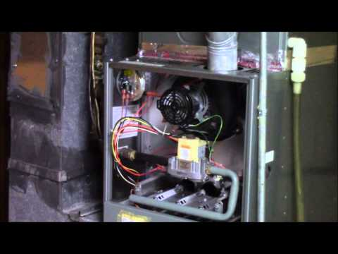 Rheem furnace gas leak check and sequence of operation furnace service part 6