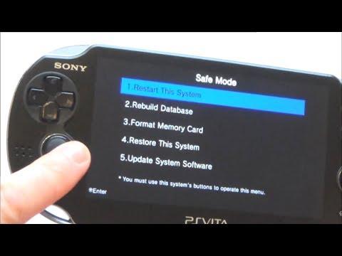 How to Factory Reset a PlayStation Vita (PS Vita) via Safe Mode