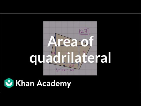 How to find the area of a strange quadrilateral on a grid | Geometry | 6th grade | Khan Academy
