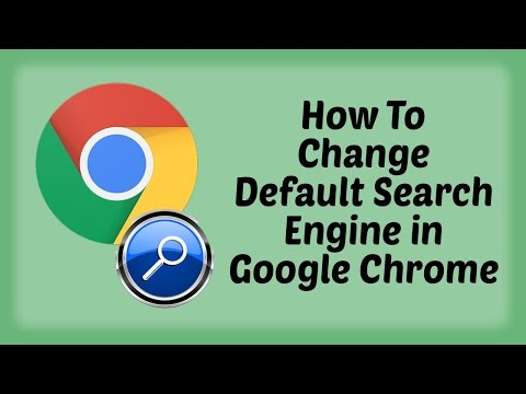 How To Change Default Search Engine in Google Chrome - Hindi Video | Change and Mange Search Engine