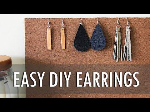DIY | 3 Easy Leather Earrings