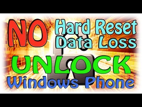 How to unlock windows phone without Hard Reset and Data loss