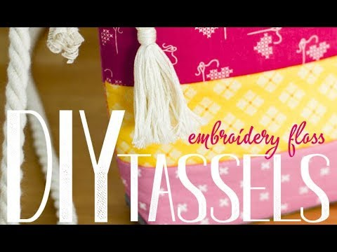 DIY No-Hassle Tassels using Embroidery Thread!
