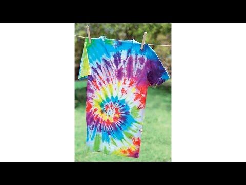 Tie-Dye 101: Classic Rainbow Spiral T-Shirt
