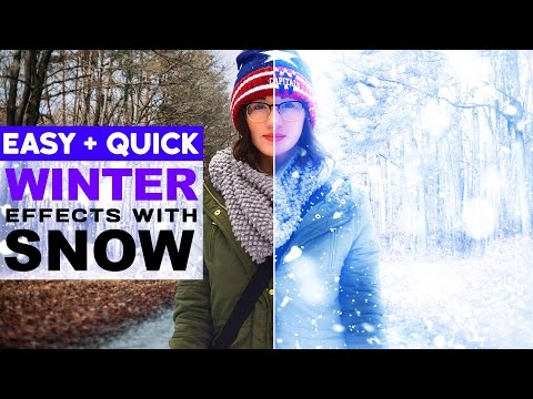 How to Create a Winter Photo with Snow effect in Photoshop |  Easy Change to SUMMER into WINTER