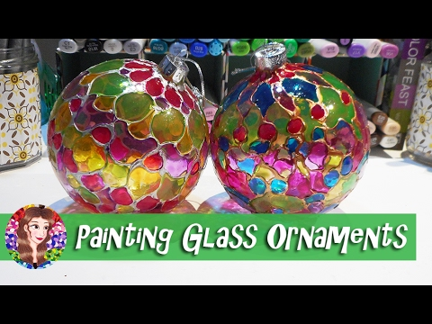 Painting Glass Ornaments Tutorial - Tips and Advice on using Glass Paints