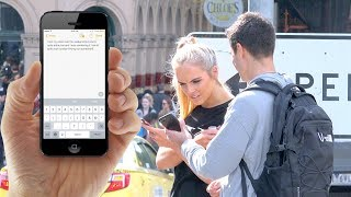 Picking Up Girls WITHOUT Talking!! (Social Experiment)