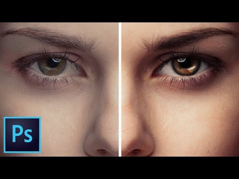 RETOUCH and Make Eyes Look AMAZING with Photoshop CC!