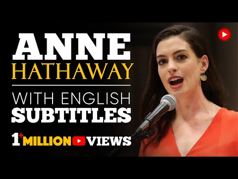 Xxx Mp4 ENGLISH SPEECH ANNE HATHAWAY Paid Family Leave English Subtitles 3gp Sex