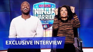 American Ninja Warrior: USA vs The World 2020 - Akbar Gbajabiamila & Zuri Hall | NBC