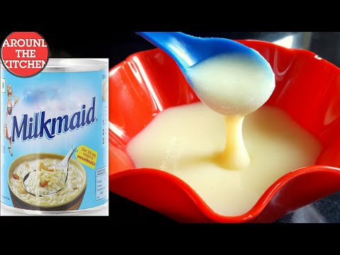 how to make condensed milk  at home - how to make milkmaid at home in hindi - mithaimate at home