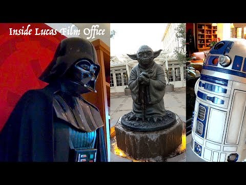 #2 Yoda Fountain & Inside LucasFilm Office in San Francisco Darth Vader R2D2 Darth Maul in the House