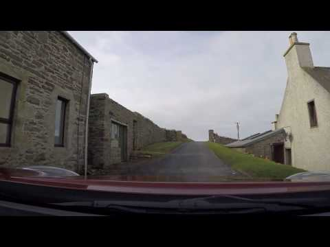 Final stage of the drive from Lerwick to Sumburgh Lighthouse and Airport. (from Dunrossness)