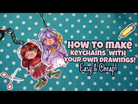 DIY✏How to make cute keychains using your own drawings! | Easy & cheap!