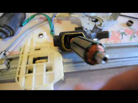 Fix Car Power Window Motor that has Metal Brushes (No Carbon Brushes - Cheap Type)