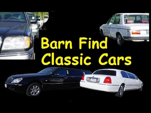 BARN FIND CARS FOR SALE ~ CLASSIC MUSCLE LIMO'S $995 & UP